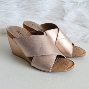 Kenneth Cole Reaction Rose Gold Metallic Wedges